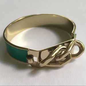 Jewelry - Green and Gold Knot Bangle